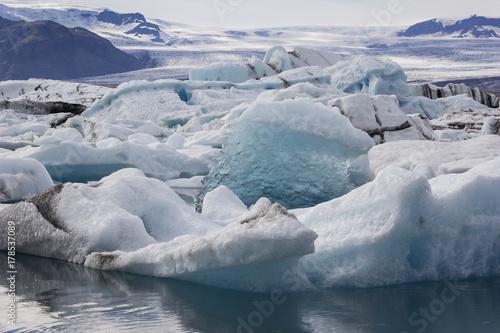 Foto op Aluminium Arctica View of the famous glacier lagoon Jokulsarlon