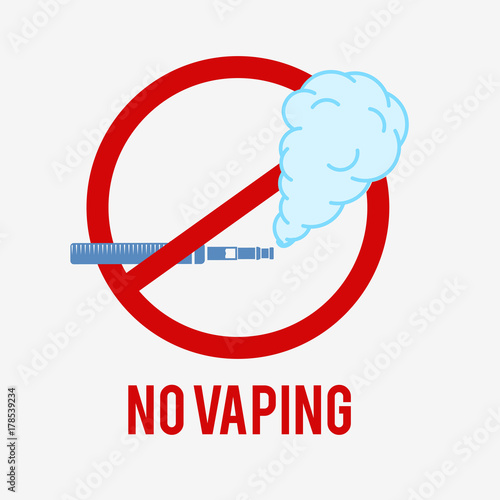 no vaping icon e cigarette sign on a white background this