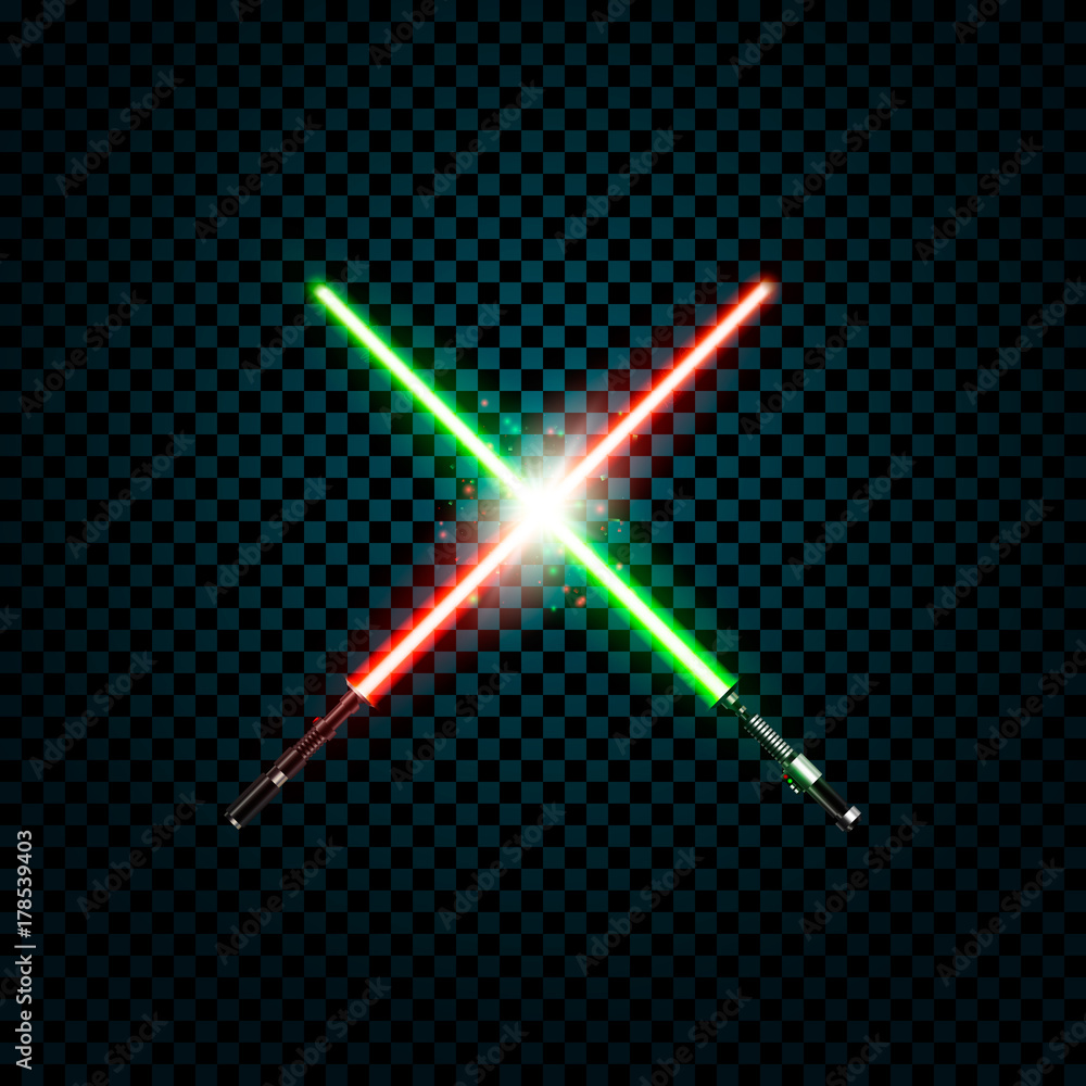Fotografie, Obraz realistic light swords