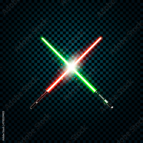 Photo  realistic light swords