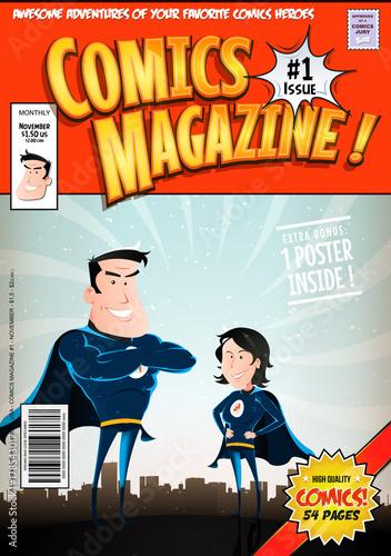 Plakat Pokrywa komiksu