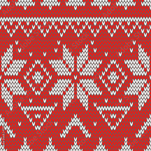 Seamless Christmas knitted retro pattern vintage