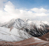 snow,  mountain,  landscape,  winter,  sunrise,  land,  beauty,  nature,  forest,  sky,  north,  side,  tibet,  everest,  came,  autumn,  mountains,  background,  sun,  clouds,  trees,  panorama,  tra - 178552831