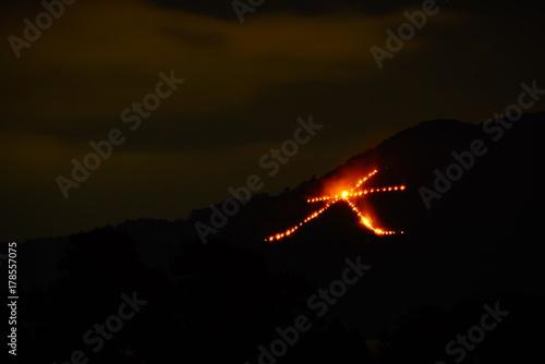 Deurstickers Kyoto 京都 五山の送り火 大文字