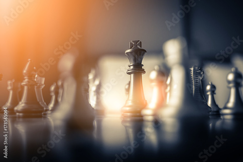 Fotografie, Obraz  chess board game concept of business ideas and competition and stratagy plan suc