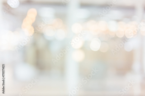blur image background of shopping mall Canvas