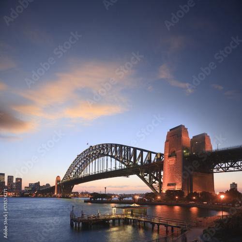 Sydney Harbour Bridge Sunset Square © Colin & Linda McKie