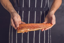 Hands Cook With Smoked Salmon
