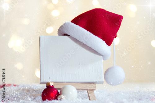 Leere Staffelei Weihnachtlich dekoriert Fotobehang