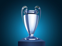 Shining Silver Cup Vector Illu...