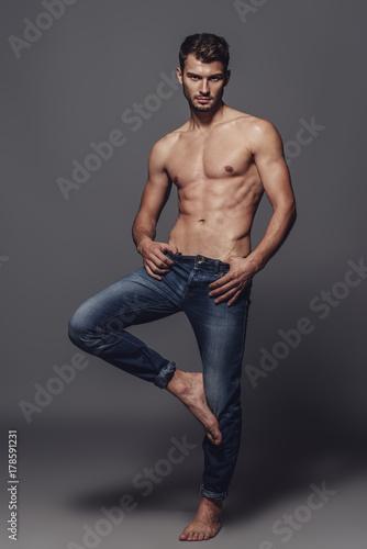 Deurstickers Akt jeans for men