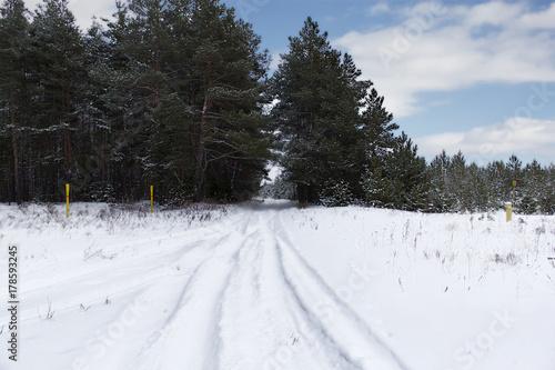 Papiers peints Arctique Snow road