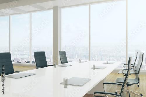 Poster Airport Modern boardroom interior