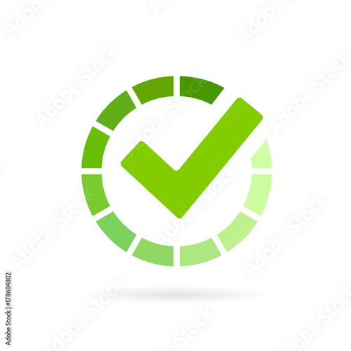 Load completed progress bar icon Fotomurales