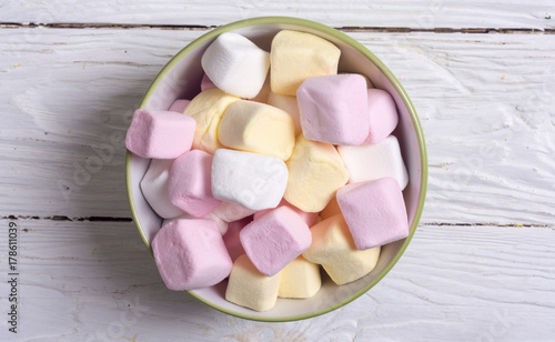Colorful marshmallow skewers