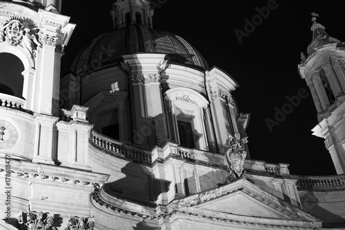 Photo  Detail of the beautiful Church of Sant'Agnese in Agone, Rome
