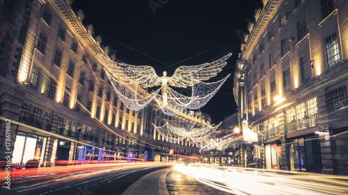 Photo  Regent Street Holiday Lights in London, UK