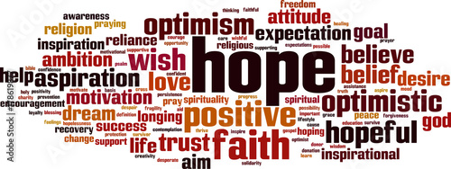 Hope word cloud Canvas-taulu
