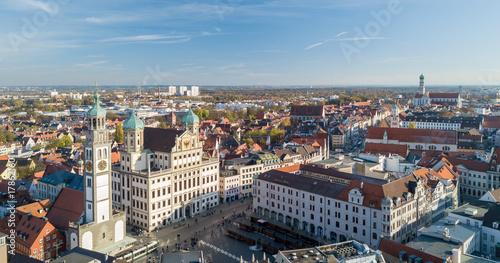 Photo Blick auf die Altstadt Augsburgs