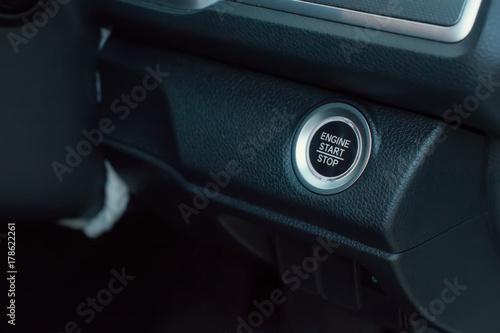 car interior, key, start&stop Obraz na płótnie