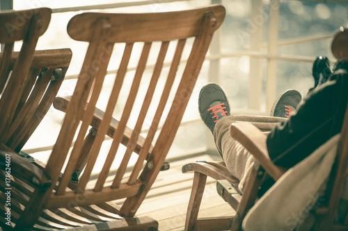 Plakat Relaksujący fotel pokładowy