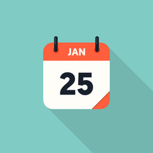 Calendar Icon 2018 Flat Design...