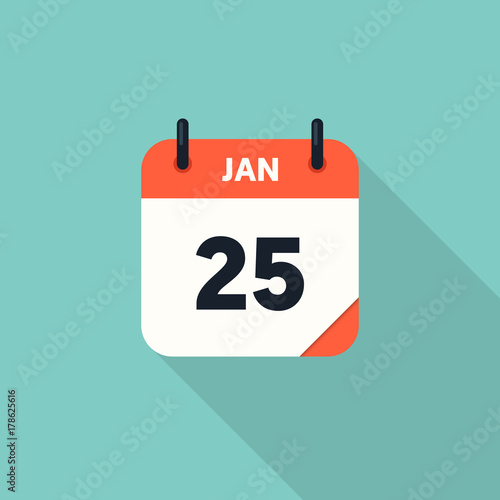 Fotomural Calendar icon 2018 flat design with long shadow