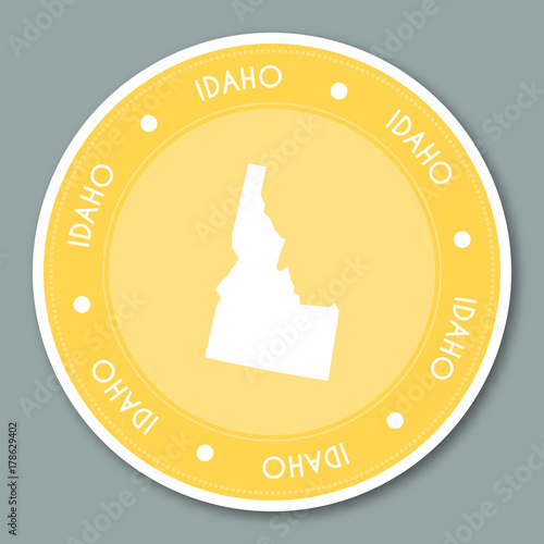 Idaho label flat sticker design. Patriotic US state map ... on beer brand map, beer bottle map, beer chart map,