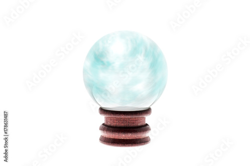 Crystal ball / Crystal ball on white background.