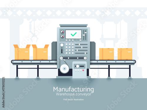 Fotomural Manufacturing warehouse conveyor