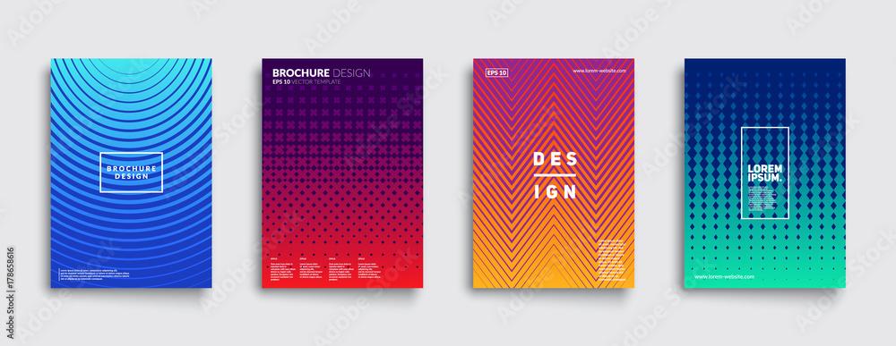 Fototapeta Minimal covers design. Cool gradient colors. Geometric halftone gradients. Eps10 vector.