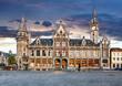 canvas print picture - Ghent at night, Belgium