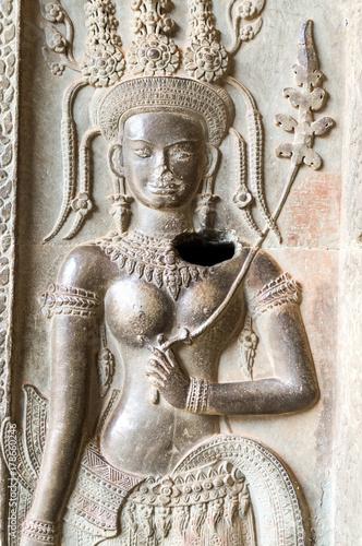 Plakat Angkor Taniec Apsara ozdoba, Kambodża