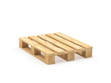 One Wooden Pallet Isolated On ...