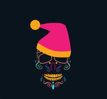 Christmas Skull Icon Backgroun...