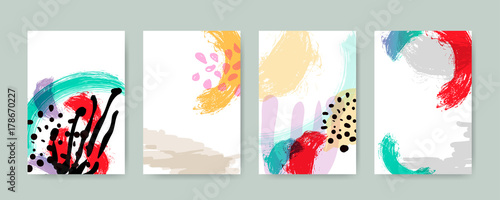 Abstract trendy illustration background, placard, style flat and 3d design elements. Unique art for covers, banners, flyers and posters.