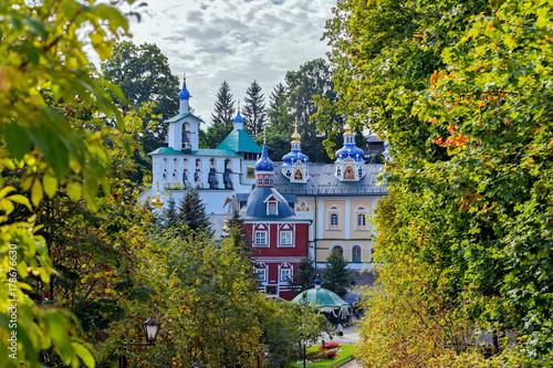 Pskovo-Pechersky Dormition Monastery. Pskov region, Russia