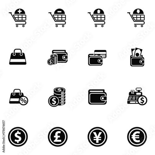 Fototapety, obrazy: e-commerce icon set