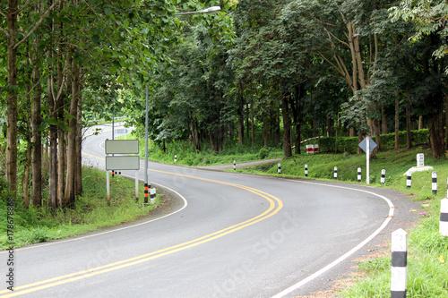 Zdjęcie XXL zakręty drogi na wsi