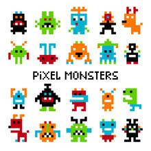 Pixel Invaders Set