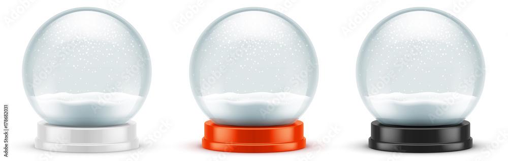 Fototapeta Boules à neige vectorielles 7