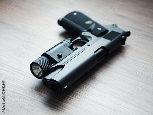 Fotografia, Obraz  .45 ACP caliber custom build pistol