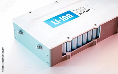 EV (electric vehicle) Li-Ion battery concept Fototapete
