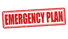 Emergency Plan Sign Or Stamp