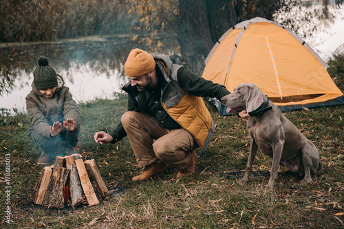 Canvas Prints Camping camping