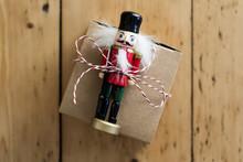 Christmas Present Box On A Woo...