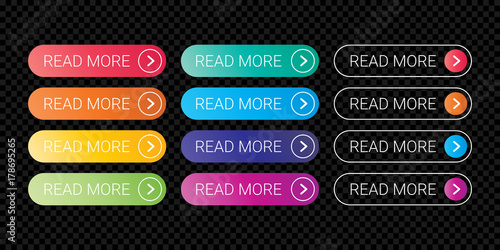 Read More web button flat design with template with design color gradient style 61bb69