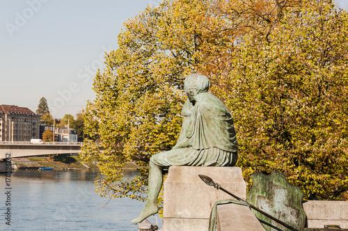 Fotografie, Obraz  Basel, Stadt, Altstadt, Helvetia, Rhein, Rheinufer, Kleinbasel, St
