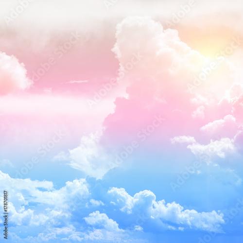 Poster Rose clair / pale Sky colors air clouds