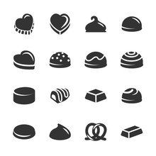 Chocolate Icon Set 2, Vector Eps10